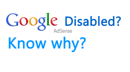 Google adsesne disabled