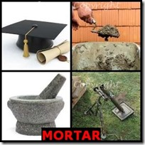 MORTAR- 4 Pics 1 Word Answers 3 Letters