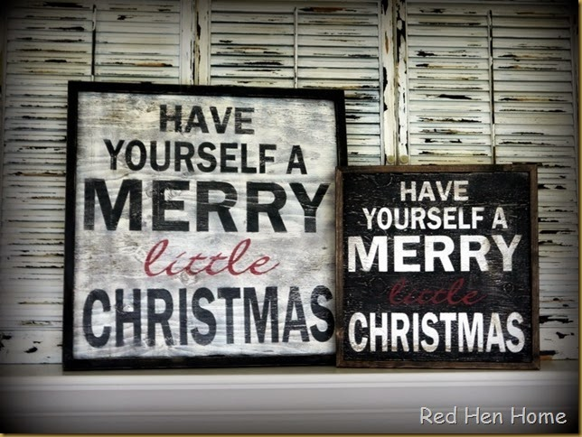 Red Hen Home Have Yourself a Merry little Christmas 3