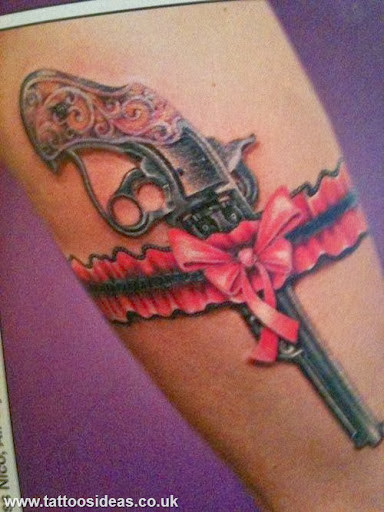 Garter gun and loop tattoo designs for Garter tattoo templates