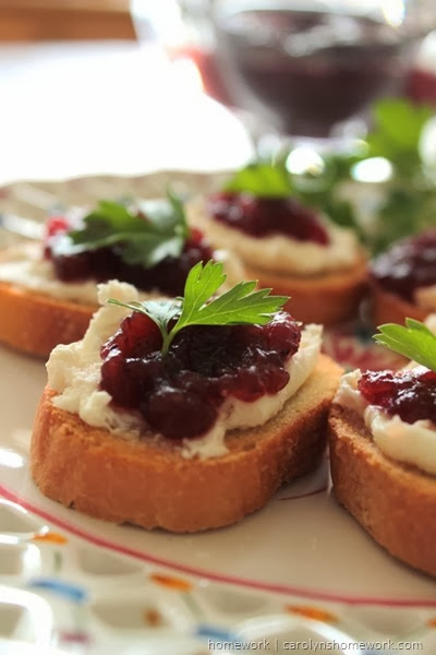 Cranberry Relish Crostini via homework  (9)