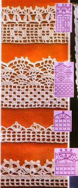 Creaciones mariganchillo patrones de puntillas y cenefas - Cenefas de crochet ...
