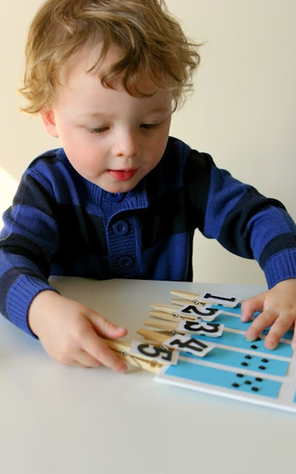 Toddler Number Matching Board 6
