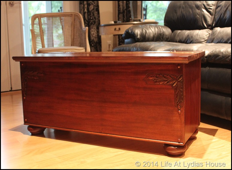 blanket chest from piano parts