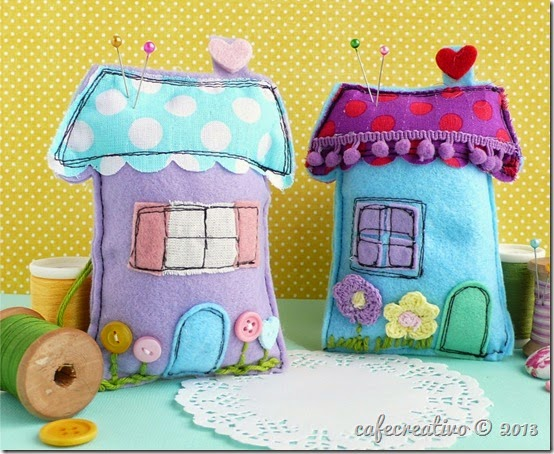 cafe creativo - sizzix big shot - sewing houses pincushion (1)