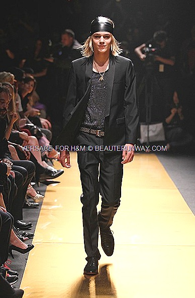 Versace H&M New York Mens collection Runway Show Donatella Versace