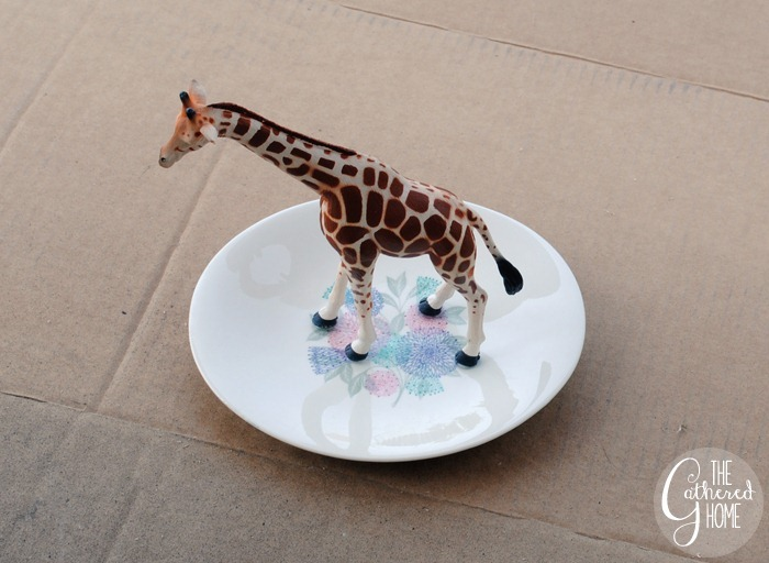 anthropologie giraffe trinket dish