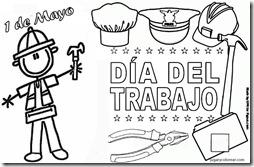 Día del Trabajo – Dibujos para imprimir y pintar