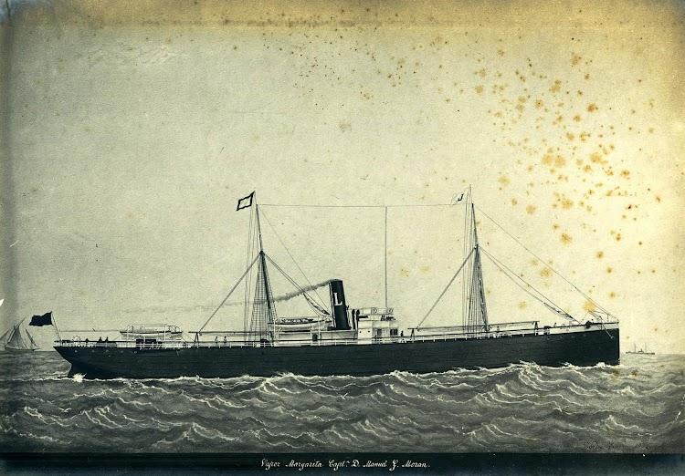 El vapor MARGARITA. Del libro LA VIDA MARITIMA DE M.G. MORAN.JPG