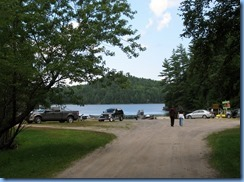 7181 Restoule Provincial Park - walk to Visitor Centre - Boat Launch Stormy Lake