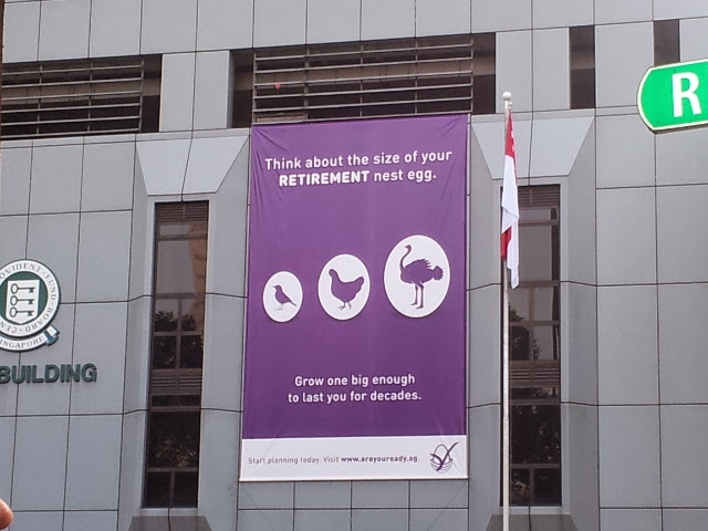 Poster on CPF building
