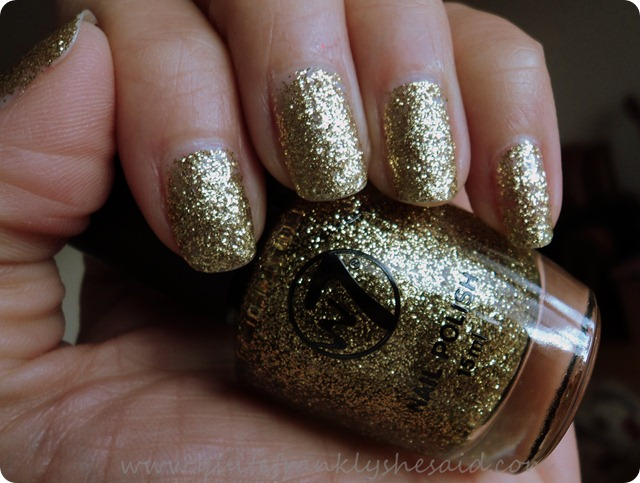 W7 Gold Dazzle nail polish