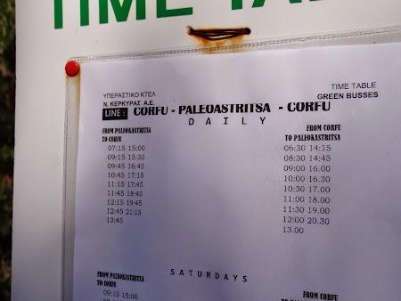 02. Orar autobuze Corfu - Paleokastrita.JPG