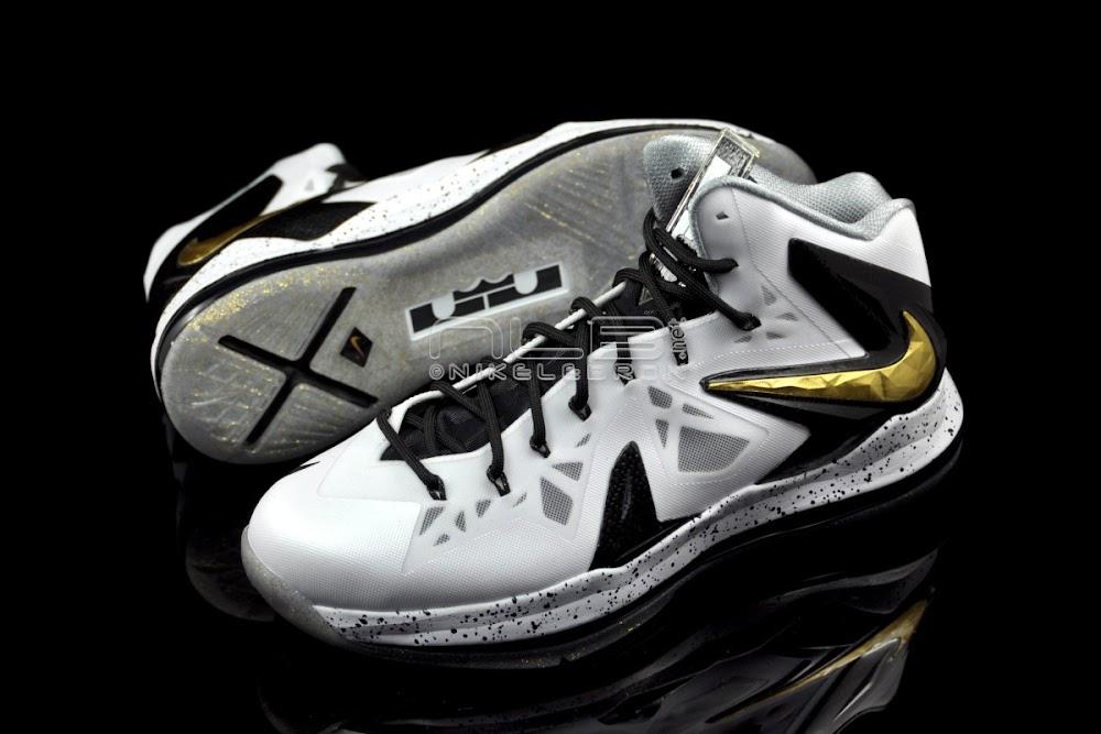 e96c56d81ad666 ... The Showcase Nike LeBron X PS Elite White amp Gold ...