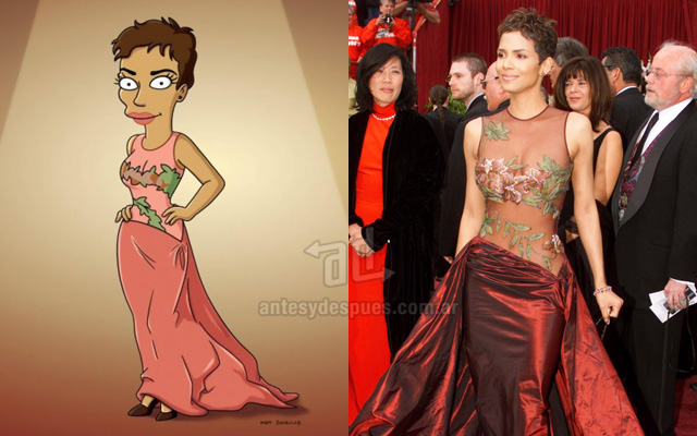 Foto de la version Simpson de Halle Berry