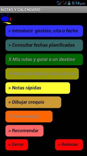 Agenda de notas y reuniones F