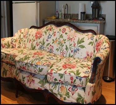 floral sofa before 2