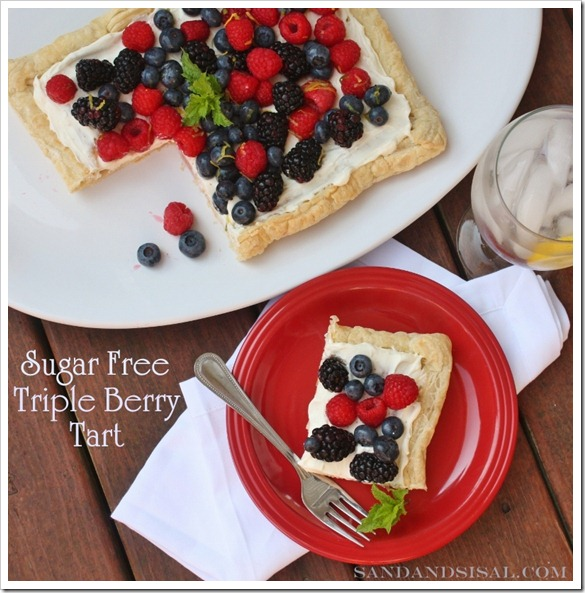 Nectresse Sweetened Triple Berry Tart
