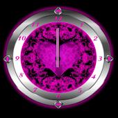 Pink Valentine Clock