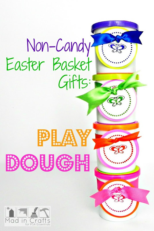 Non-Cany Easter Basket Gifts Play Dough for PSA