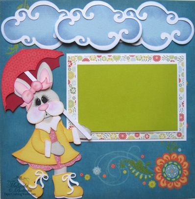 bunny svg easter rain spring scrapbook layout500