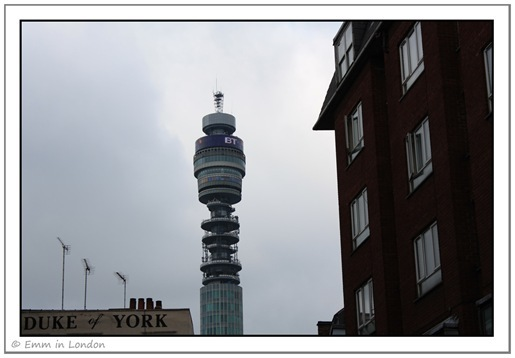 The BT Tower and the Duke of York