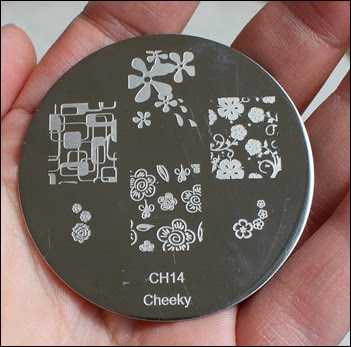 Stamping Plate Schablone Cheeky CH14