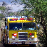 Truck uses N-S corridor going North from gulch fire