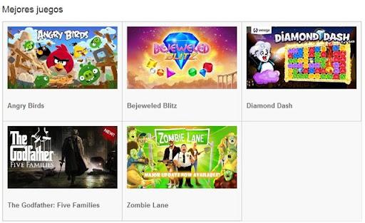 Mejores juegos para Google plus