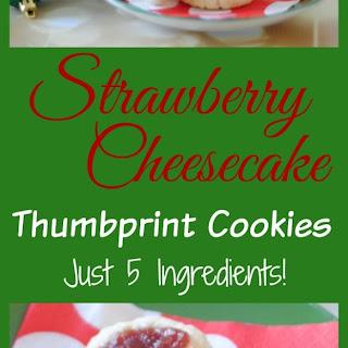 Strawberry Cheesecake Thumbprint Cookies