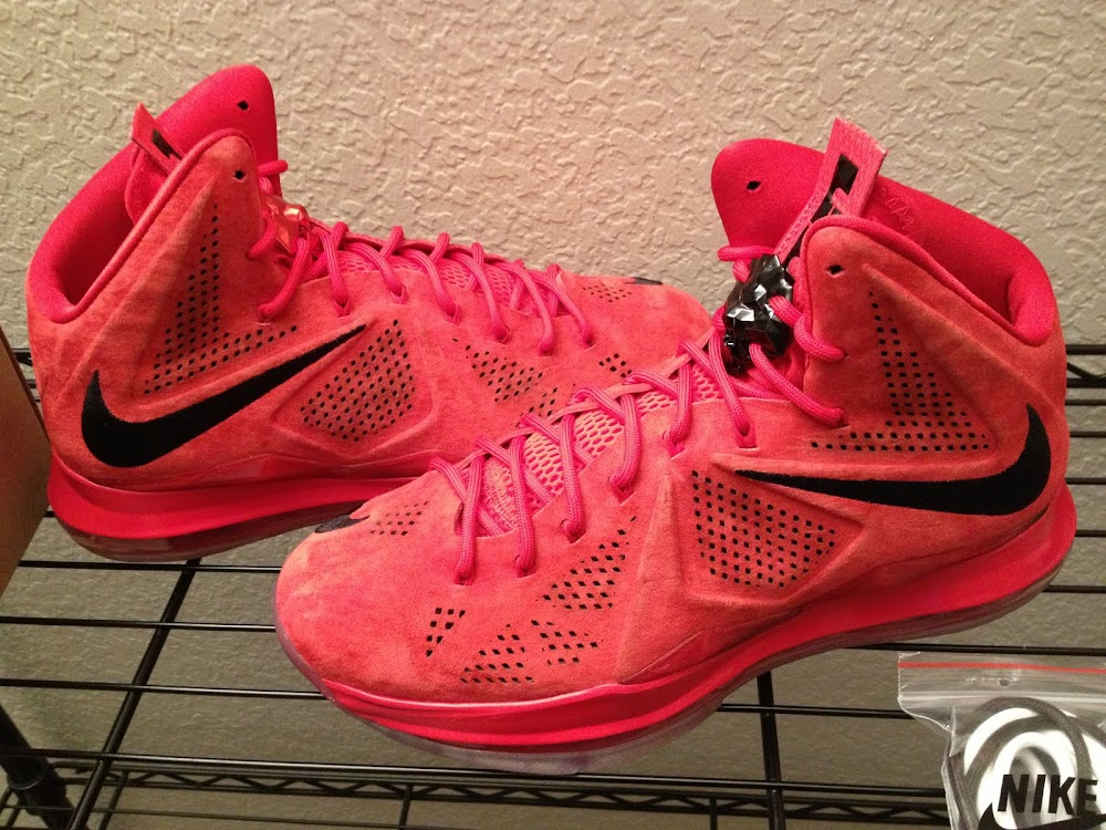 1810d0bfaf2 Nike LeBron X EXT 8220Red Suede8221 8211 New Pics amp Video Review ...