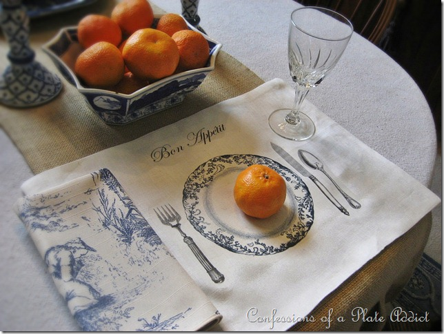 CONFESSIONS OF A PLATE ADDICT DIY Tablescape Placemats