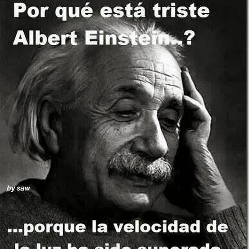 humor ¿por qué esté triste Albert Einstein?