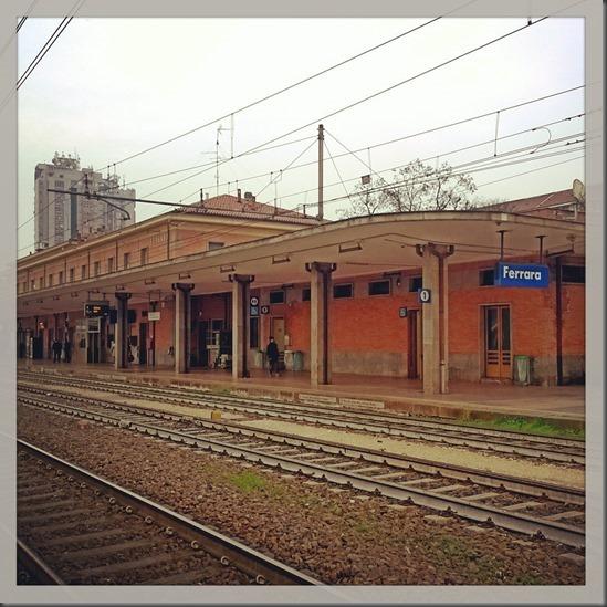 Stazione FS di Ferrara, Italia - Railway station of Ferrara, Italy