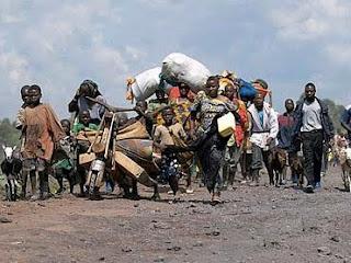 Des déplacés de guerre à l'EST de la RDCongo . (droits tiers).