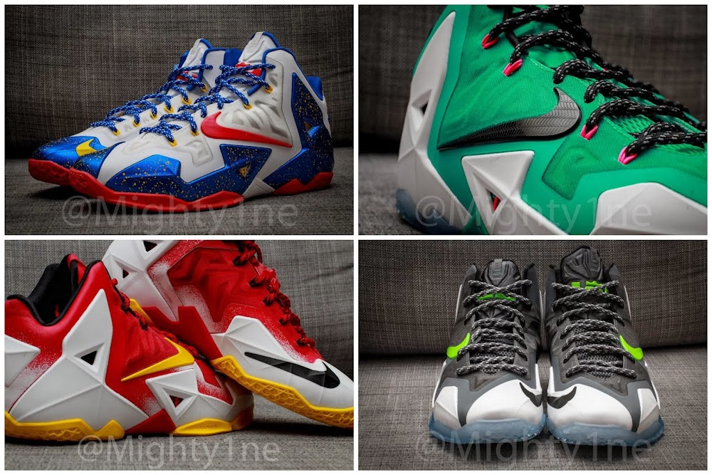 low priced 83cb2 20ea6 Four Different Nike LeBron XI iD Designs by  Mighty1ne   NIKE LEBRON -  LeBron James - News   Shoes   Basketball