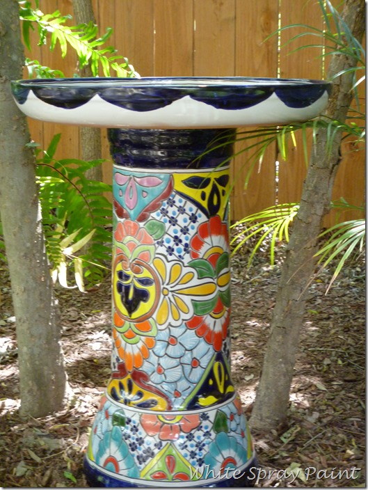 Talavera Bird Bath