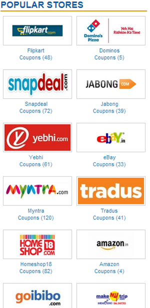 Popular Stores on IndianCoupons.com