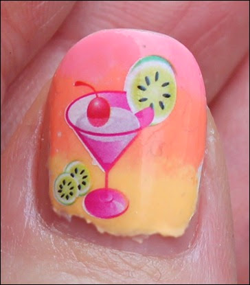 Tropical Island Cocktail Nail Art 9