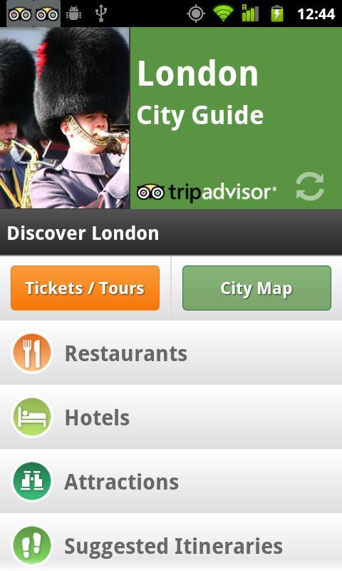 City Guides Catalog - screenshot