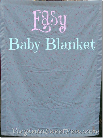 Easy Baby Blanket by Sweet Pea