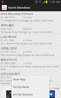Screenshot of Tourist Attractions