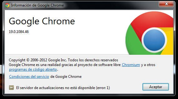 version de chrome que tengo