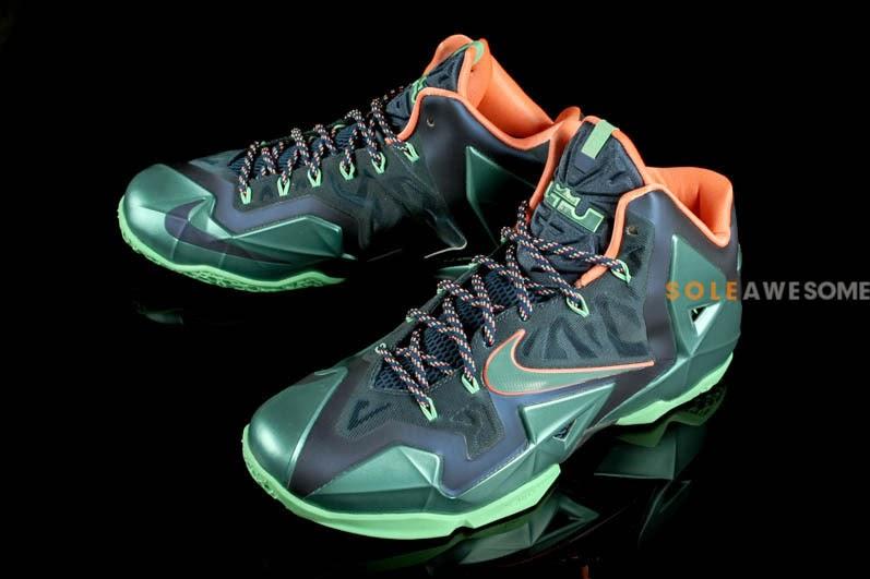 Hot Sale Cheap Nike Lebron 11 Miami vs. Akron Brave Blue Mineral