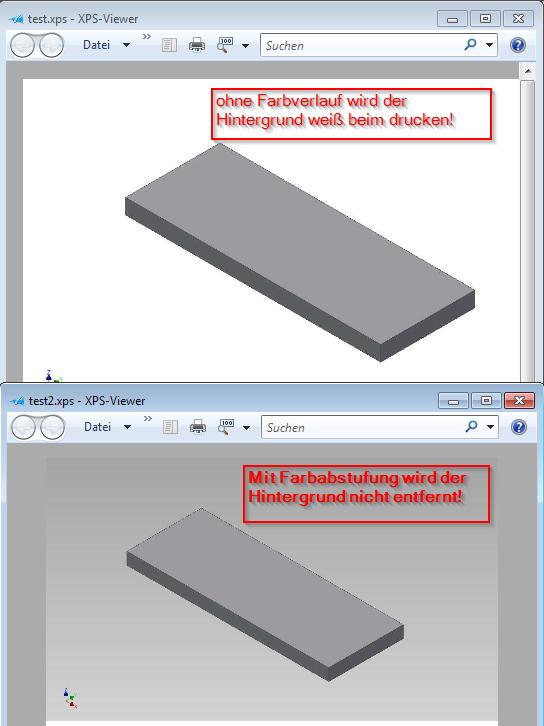 Autodesk Inventor FAQ: Drucken des 3D Modells: Hintergrundfarbe ...