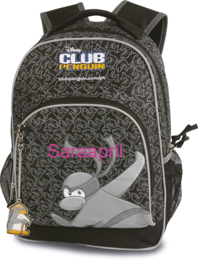 Club Penguin Black Backpack 43x32x18 cm :)