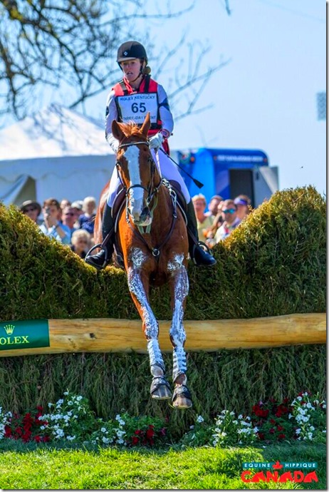 Selena O' Hanlon Rolex Kentucky 3-Day Event Cross Country Course Photo courtesy Equine Canada Twitter