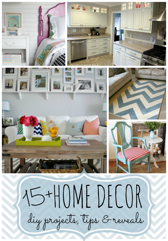 15  Home Decor DIY projects, tips & reveals #features at gingersnapcrafts.com