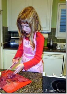 Children in the Kitchen: Cutting Meat