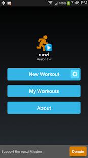 RUNZI running cadence and GPS